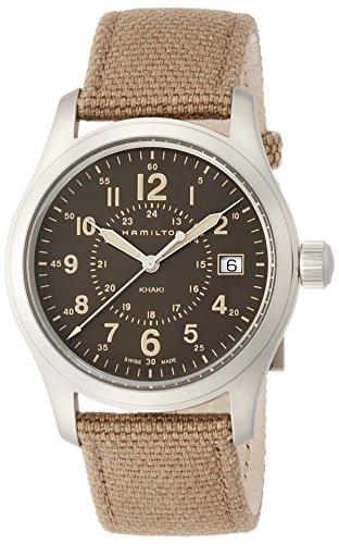 Hamilton Mens Quartz - Hamilton Men's Analogue Quartz Watch with Textile Strap H68201993