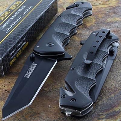 Tac-Force Black TANTO BLADE Spring Assisted Tactical Folding Pocket Knife New!!!