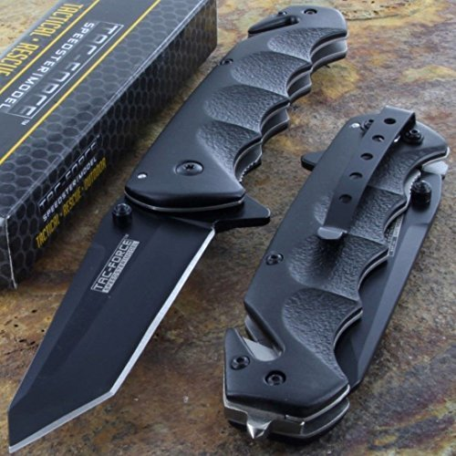 Tac-Force-Black-TANTO-BLADE-Spring-Assisted-Tactical-Folding-Pocket-Knife-New
