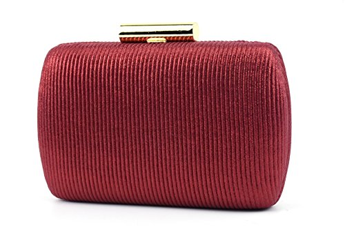 Women Handbag Evening Bag Party Clutch Clutch For Weddingg Purse Ruiatoo Muti Red color SBR8Hqw
