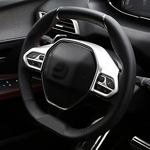 Couvre-volant cache volant en plastique ABS lot de1 pour 3008 GT 5008 2017-2019 accessoire de voiture