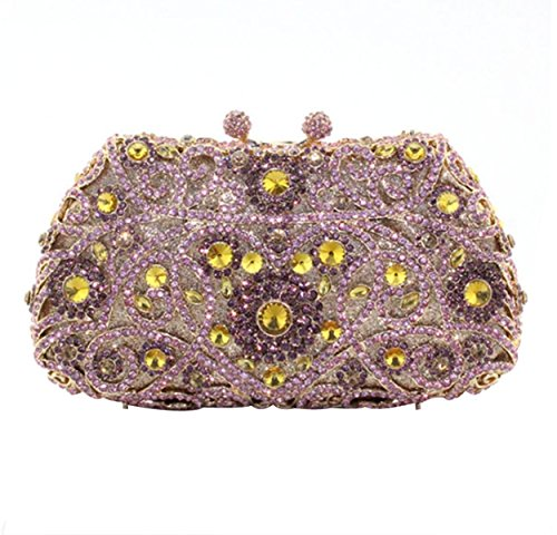 Pour Fashion De Sac Sac Diamant à Party Soirée Main Purple Femme qfxSPTw