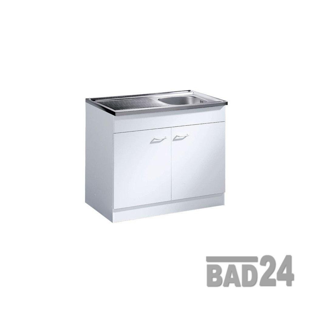 Küche-Spülenschrank  Mehrzweckschrank 80x50 Start Melamin weiß weiß