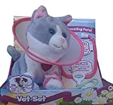 Amazimals Vet Set Plush Gray & White Kitty CAT Kitten Electronic Amazing Pets