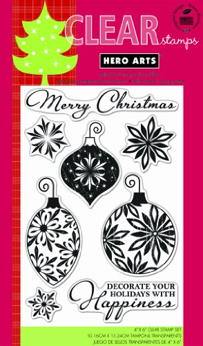 Hero Arts Rubber Stamps Decorate Your Holidays Clear Stamp -
