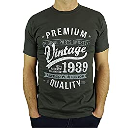 1940 Vintage Year – Aged to Perfection – 80th Birthday Gift/Present Mens T-Shirt