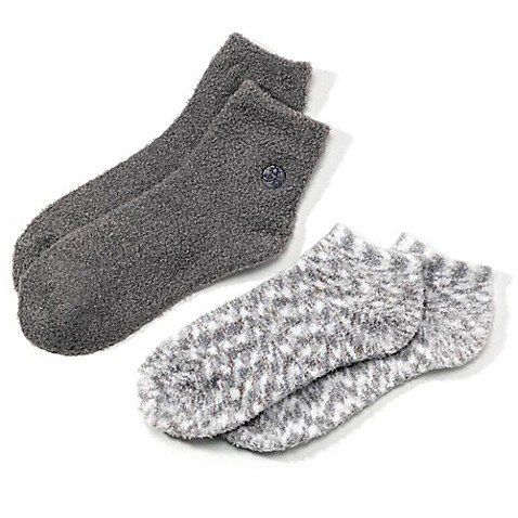 Earth Therapeutics 2-Pack Super Plush Aloe Moisture Socks (Gray)