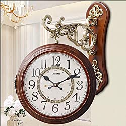 Boxer Briefs Double-sided Wall Clocks, Living Room Clocks, Wall Charts, Silent Clock, European Creative, Modern, Two-sided, Two-sided Clocks (Color : B)