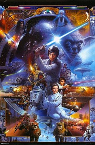 Star Wars   Movie Poster  30Th Anniversary Collage