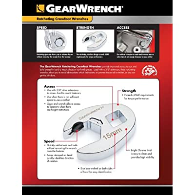 GEARWRENCH Ratcheting Crowfoot Metric Wrench Set - Open End Wrenches - .com
