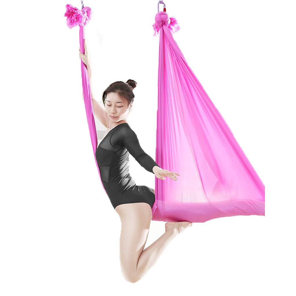 Yoga Aerial Luft Hängematte Anti-Schwerkraft Schaukel Umgekehrte Werkzeuge Luft Set Indoor-Höhen Hängematte Aerial Fitness Set (Farbe : lila, Größe : 280  500cm)