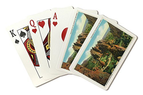 Colorado Springs, CO - Panoramic View of the Garden of the Gods (Playing Card Deck - 52 Card Poker Size with Jokers)