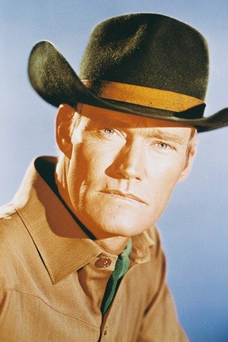 Chuck Connors The Rifleman Portrait Color Poster