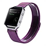 For Fitbit Blaze, Lucoo® Milanese Magnetic Loop Stainless Steel Bands Replacement Strap Bracelet For Fitbit Blaze Smart Watch (Light purple)
