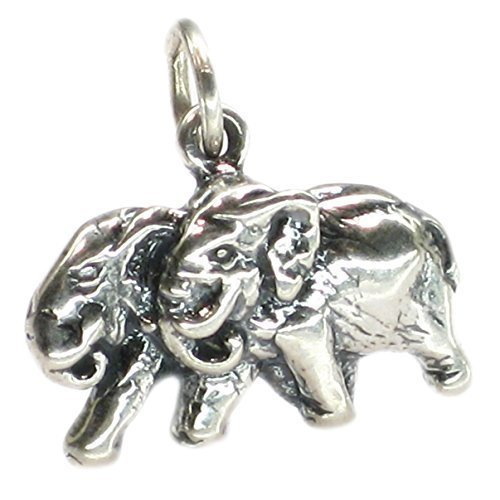4cf509dd6ea8 Diseño de elefantes 2D de plata de ley 925 para pulsera. 1 x colgantes de  elefante DKC12008  Amazon.es  Joyería
