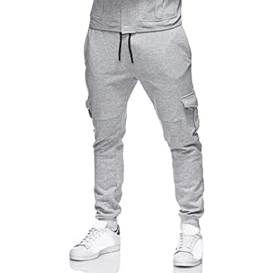 YKARITIANNA Mens Soft Sweatpants Cozy Slacks Casual Elastic ...
