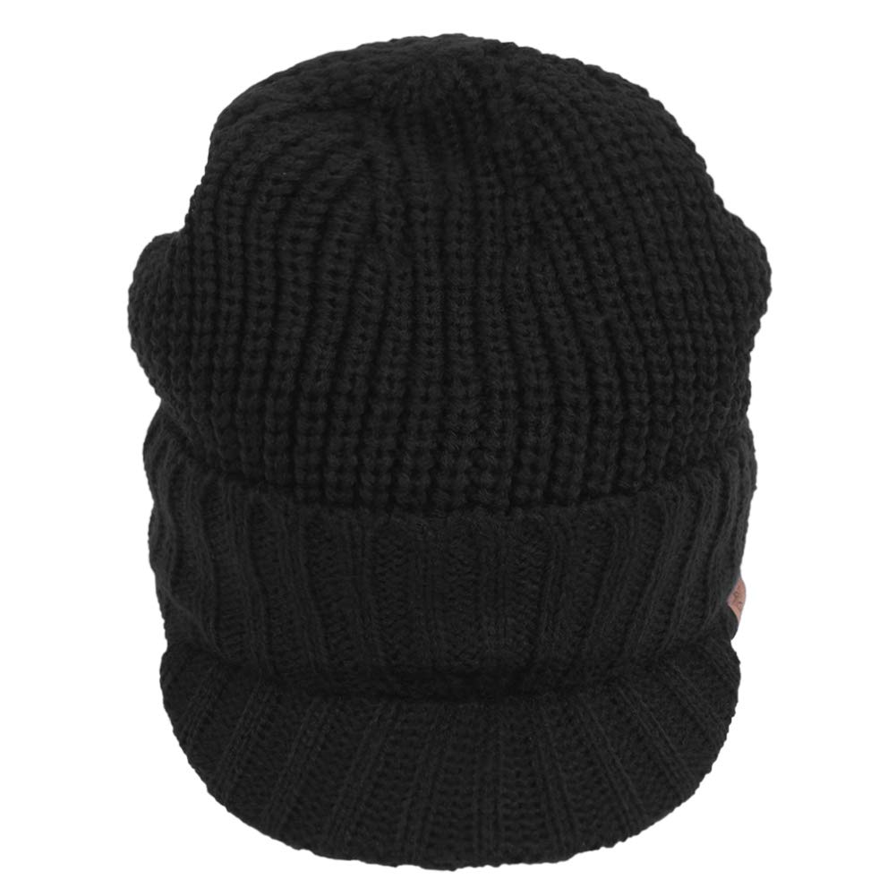 Original One Sports Winter Knit Visor Billed Beanie Hat with Brim Fleece  Lined Cap for Men   Women (Black) at Amazon Men s Clothing store  982a495b88e0