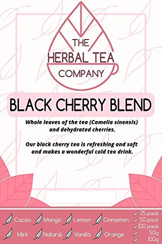 Prickly Pear Black Cherry Tea Blend Tea Bags With Natural Flavour 25 Pack