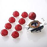Sanwa JLF-TP-8YT Joystick + 8 piece Sanwa OBSF-30