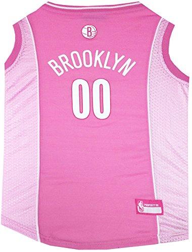 NBA Brooklyn Nets Pink Dog Jersey, Large (Jersey Nets Brooklyn Nba)