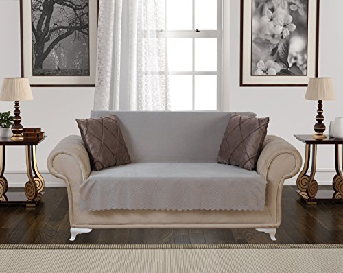 Taupe Leather Sofa Couch - 2