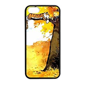 Calvin and Hobbes Sleeping On Tree For SamSung Galaxy S4 Phone Case Cover protective pragmatic black case