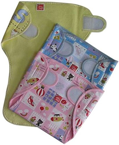 Chinmay Kids New Just Born 100% Cotton Double Cloth Washable Reusable Padded Cushioned Diaper/Langot  0 3 Months