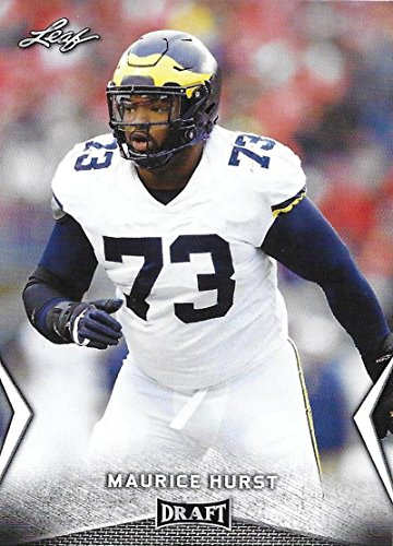 - 2018 Leaf Draft #40 Maurice Hurst Michigan Wolverines Football Card