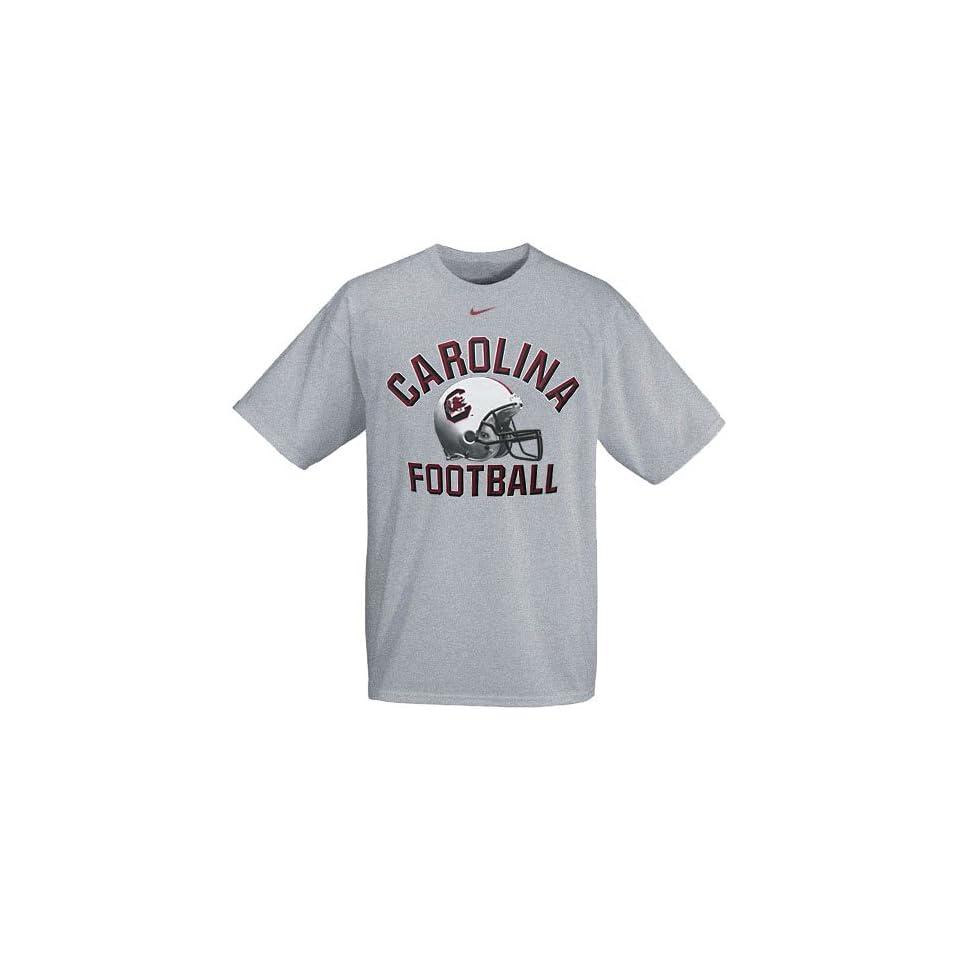 Nike South Carolina Gamecocks Grey Football Helmet T shirt