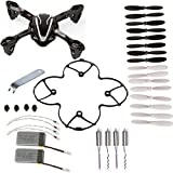 quad copter white - AVAWO for Hubsan X4 H107L 8-in-1 Quadcopter Black/White Spare Parts Crash Pack Parts (As shown)