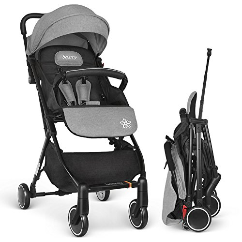 Besrey Stroller Lightweight Pushchair Compact Buggy Foldable Suitable for...