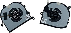 Rangale Replacement CPU and GPU Cooling Fan for Dell XPS 15 9570 XPS15-9570 Series Laptop DFS501105PR0T FKCH 008YY9 0TK9J1 TK9J1 08YY9