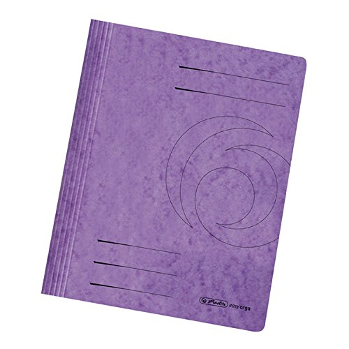 Herlitz 10902948 A4 Flat File of Color Span Paper - Violet by Herlitz