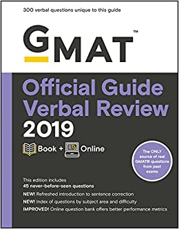 amazon gmat official guide verbal review 2019 book online gmat