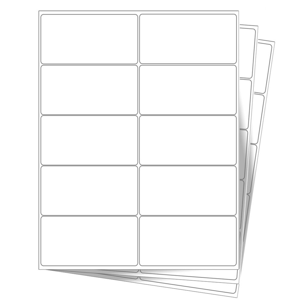 10 EcoSwift Shipping Labels 4 x 2 inches Mailing Address Blank White Self Adhesive for Laser Inkjet Printer 4x2