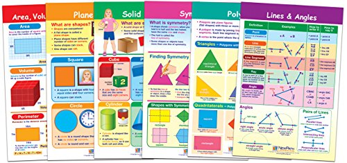 Geometry Learning Chart - Shapes and Figures Bulletin Board Charts Set - Grades K - 2