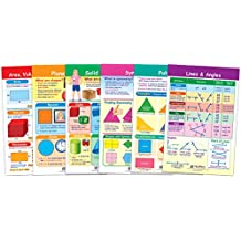 NewPath Learning 93 1502 Shapes And Figures Bulletin Board Chart Set Pack Of 6