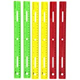 "School Smart 1473614 Plastic Ruler, 12"", Assorted Colors (Pack of 6)"