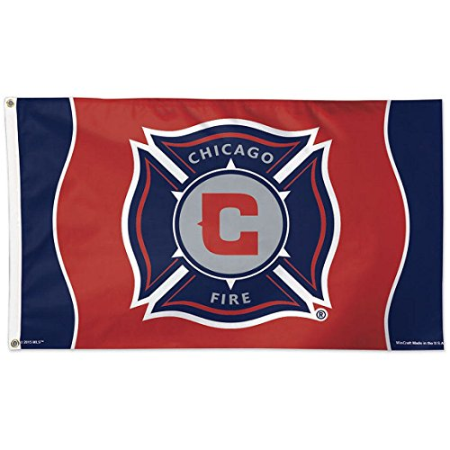 fan products of SOCCER Chicago Fire 09466115 Deluxe Flag, 3' x 5'