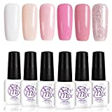 (US) Sexy Mix Gel Nail Polish Set Soak Off UV LED Pink Colors Set Mixed 6 Colors #002