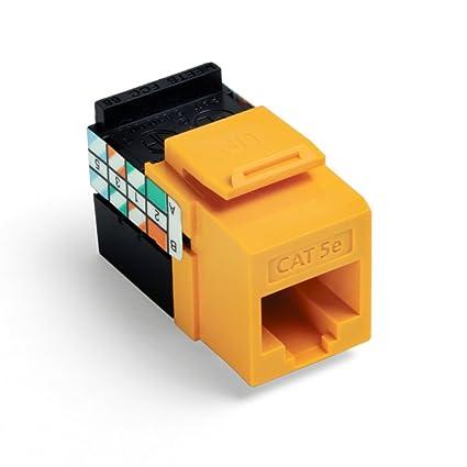 Admirable Amazon Com Leviton 5G108 Ry5 Gigamax 5E Quickport Connector Cat 5E Wiring Cloud Xeiraioscosaoduqqnet