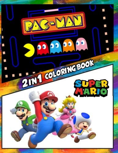 2 in 1 Coloring Book Pac-Man and Super