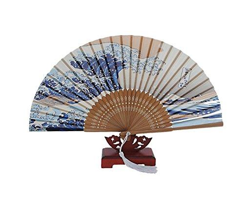 Honeysuck tradizionale giapponese Art stampe palmare ventaglio pieghevole TRTA11A