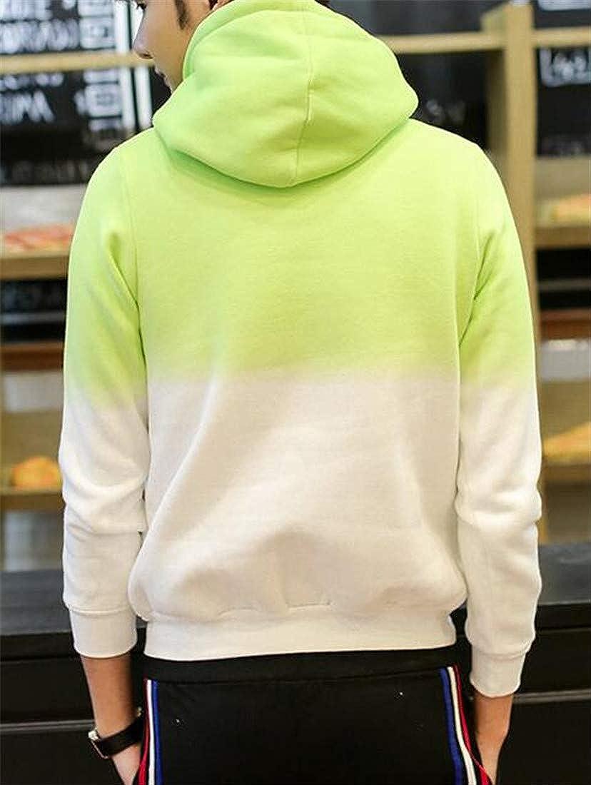 XXBlosom Mens Fleece Pocket Hoodie Drawstring Pullover Sweatshirts