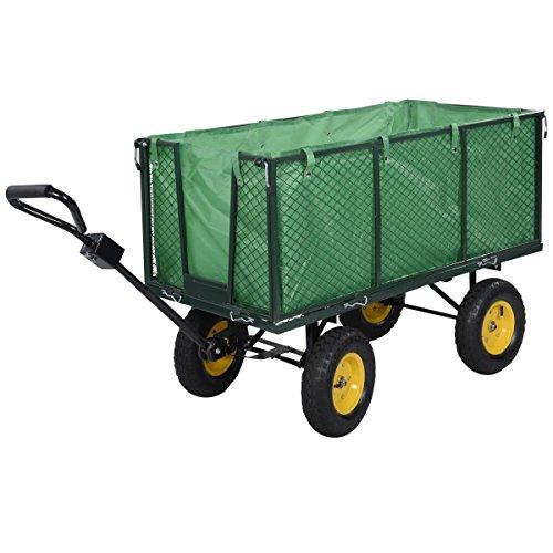 Gartenwagen Transportwagen Faltbare Transportkarre Bollerwagen Handwagen Gerätewagen Schubkarre bis 500kg