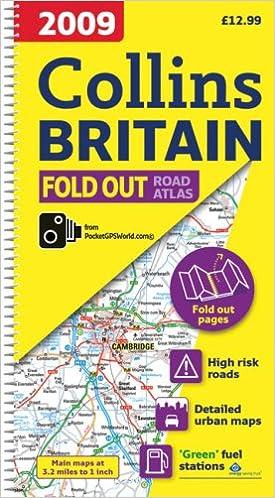 2009 Collins Fold Out Atlas Britain (Road Atlas)