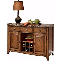 Ashley Furniture Signature Design - Lacey Dining Room Server - Rustic - Medium Brown