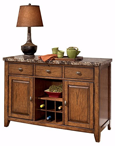Top Buffet Sideboard Server (Ashley Furniture Signature Design - Lacey Dining Room Server - Rustic - Medium Brown)