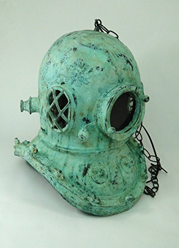 Antique-Bronze-fnsh-MARK-V-DIVERS-HELMET-CHANDELIER-old-style-brass