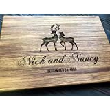 Deers Personalized Engraved Cutting Board- Wedding Gift, Anniversary Gifts, Housewarming Gift,Birthday Gift, Corporate Gift, Award, Promotion custom01